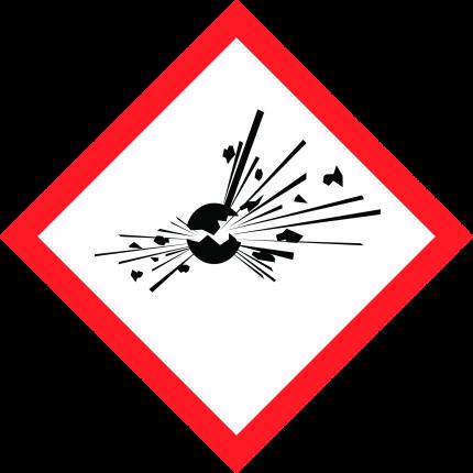 Hazard pictogram GHS01 Explosive, 250x250mm