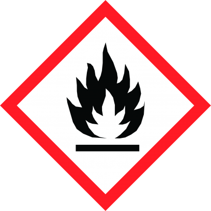 Hazard pictogram GHS02 Flammable, 250x250mm