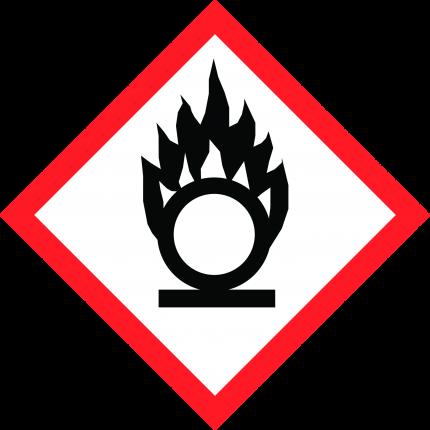 Hazard pictogram GHS03 Oxidizing, 250x250mm