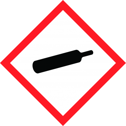 Hazard pictogram GHS04 Compressed Gas, 250x250mm