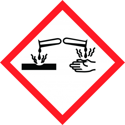 Hazard pictogram GHS05 Corrosive, 250x250mm