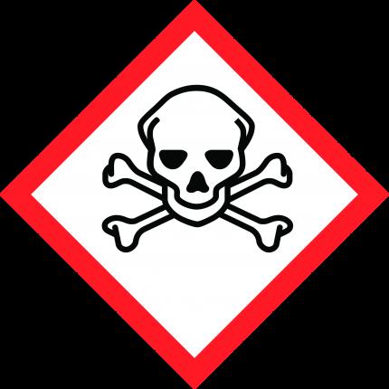 Hazard pictogram GHS06 Toxic, 250x250mm