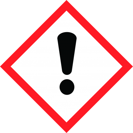 Hazard pictogram GHS07 Harmful, 250x250mm