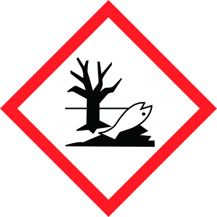 Hazard pictogram GHS09 Environmental hazard, 250x250mm
