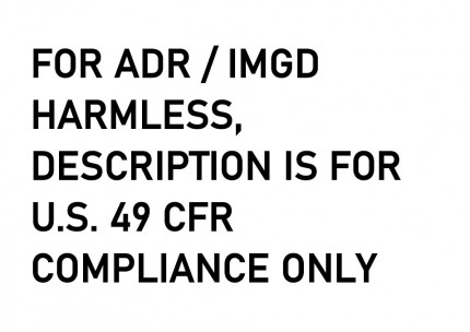 DIN A4 - FOR ADR / IMGD HARMLESS, DESCRIPTION IS FOR U.S. 49 CFR COMPLIANCE ONLY, 297x210mm