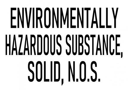 DIN A3 - ENVIRONMENTALLY HAZARDOUS SUBSTANCE, SOLID, N.O.S., 420x277mm