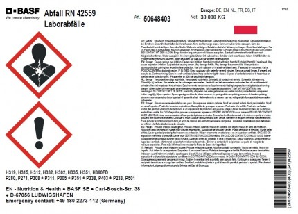 DIN A5 - Abfall RN 42559, Artikelnummer 50648403, 210x148,5mm