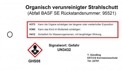 Kollianhänger - 99x150mm mit Befestigungsloch - Strahlschutt