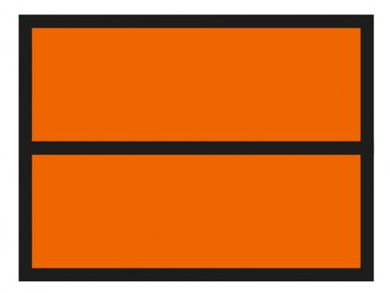 orange-coloured plate