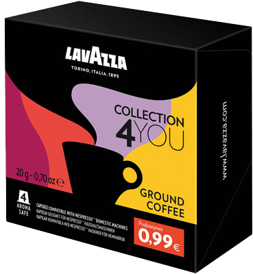 Small 6181 lavazza collection4you ground coffee web