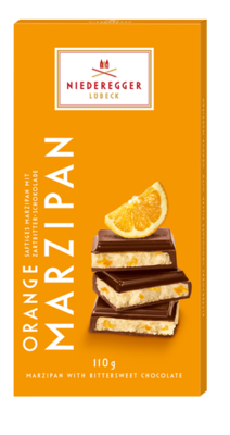 Small niederegger marzipan tafel orange