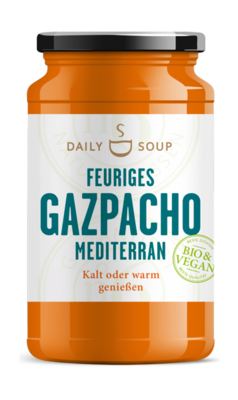 Small daily soup feuriges gazpacho mediterran