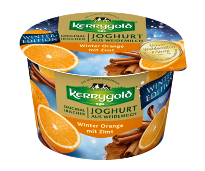 Small kerrygold joghurt winter orange