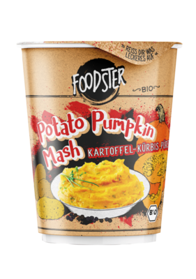 Small foodster potato pumkin mash kartoffel kuerbis pueree