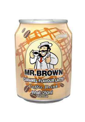 Small mr brown caramel flavour latte