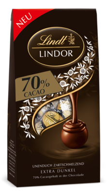 Small lindt lindor 70 prozent cacao web