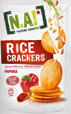 Small na rice crackers paprika