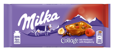 Small milka collage raspberry png