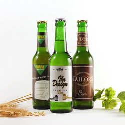 Premium bier mit logo