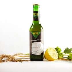 Premium bier mit firmenlogo