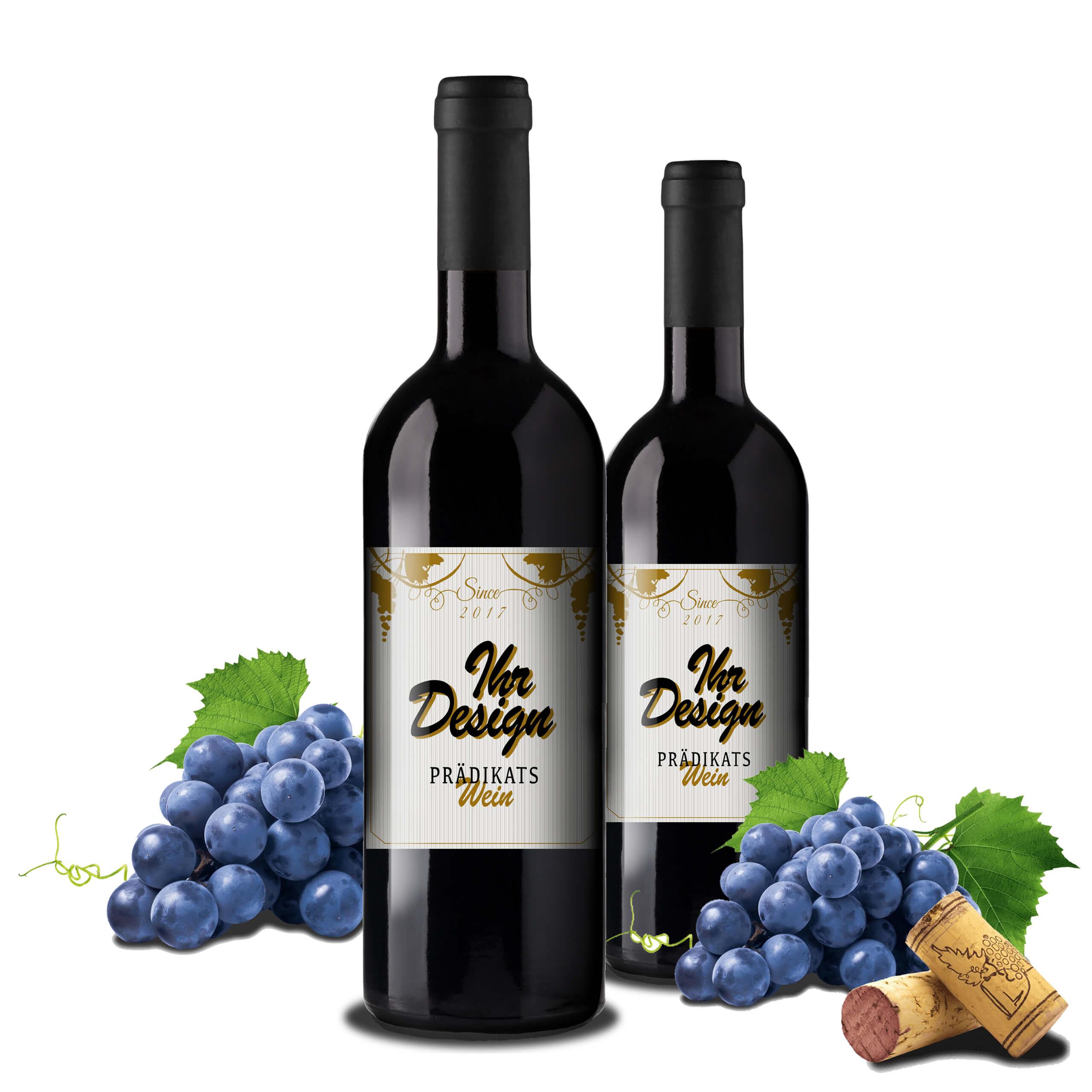 Rotwein mit logo