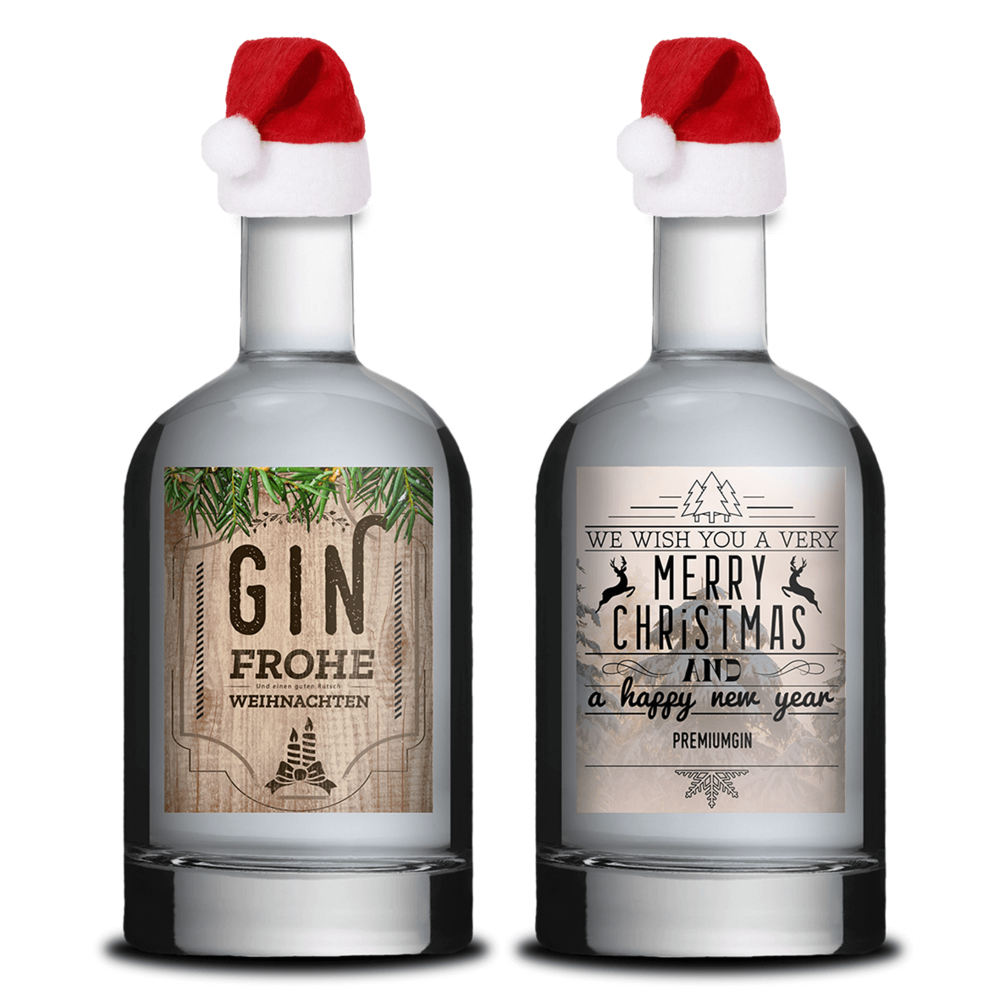 2 weihnachten zwei gin