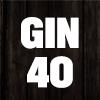 Gin icon 40 schwarz