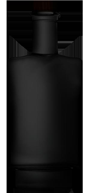 Ginflasche schwarz