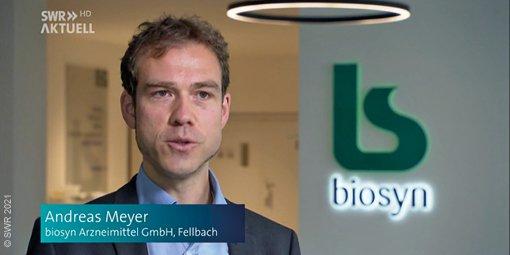 SWR zu Besuch bei biosyn in Fellbach