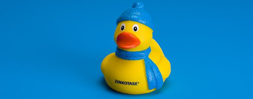 Everything was all ducky until that hacking cough came along. ZINKOTASE helps make it go away faster.