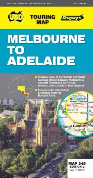 Melbourne to Adelaide  1 : 1 400 000 (Touring Map)