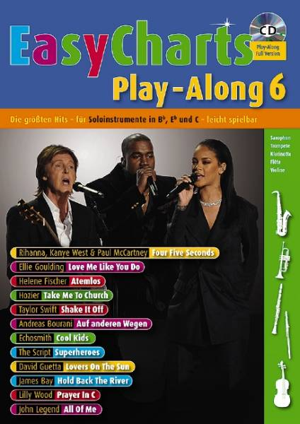 Easy Charts Play-Along. Band 6. Spielbuch mit CD