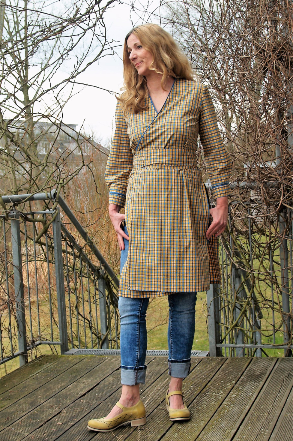 burda style Nutzerkreation Super_noah  Lange Wickelbluse, nach Burda 10/2011 Kleid 122