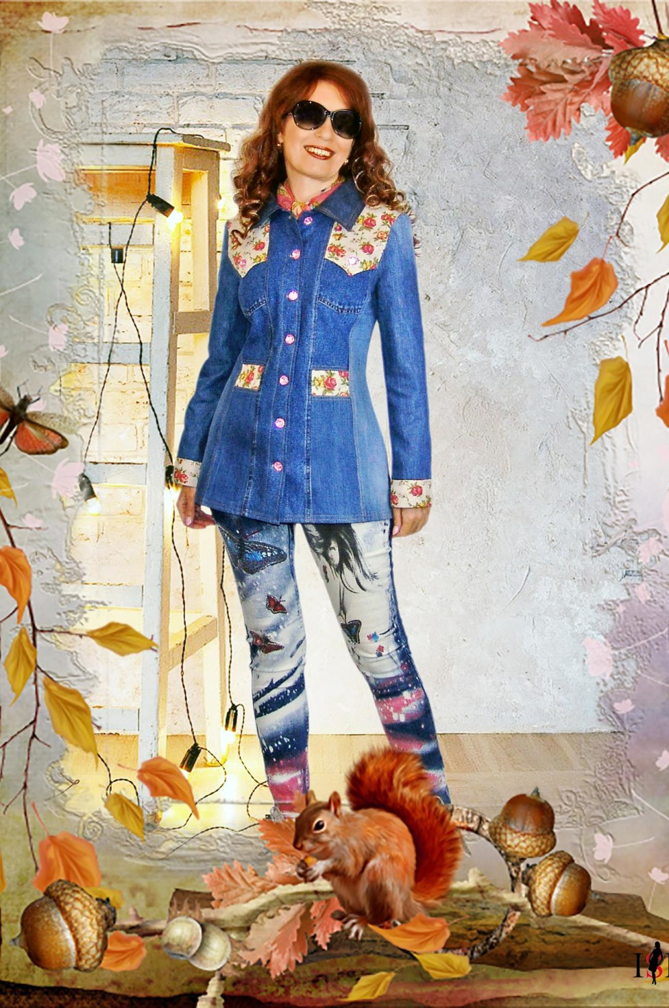 burda style Nutzerkreation rendezvous Jeansjacke mal anders-Upcycling Jacke
