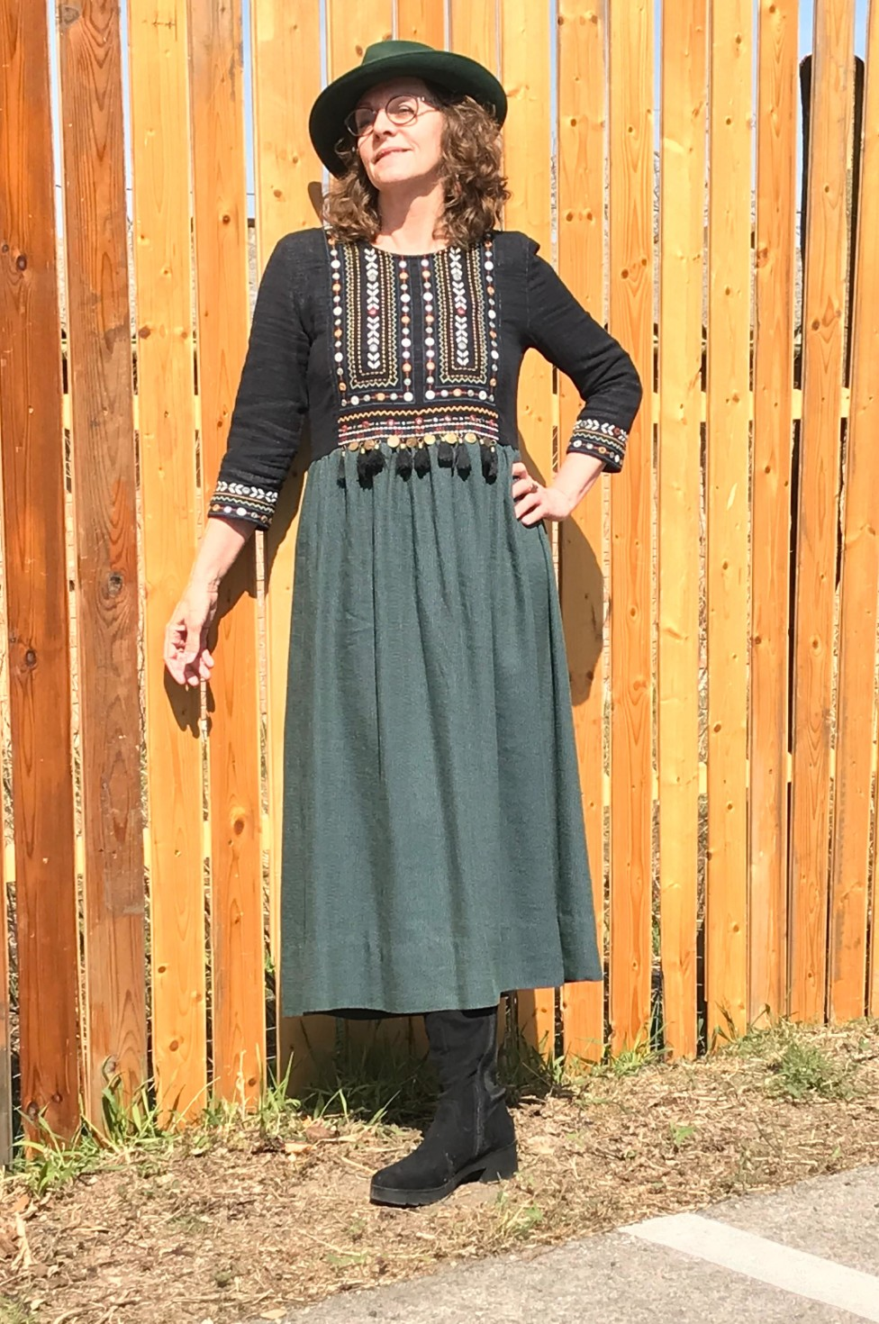 burda style Nutzerkreation Evelyn Upcycle-Hippie-Kleid