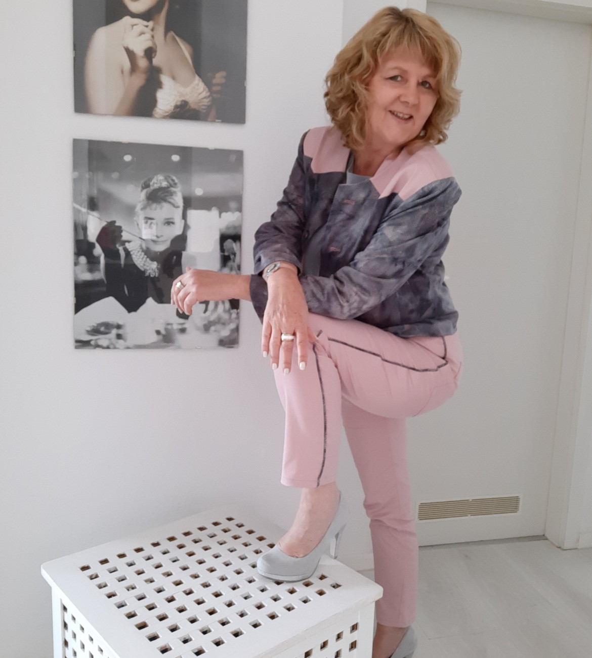 burda style Nutzerkreation beaxs Kombination in  Rosa-Grau