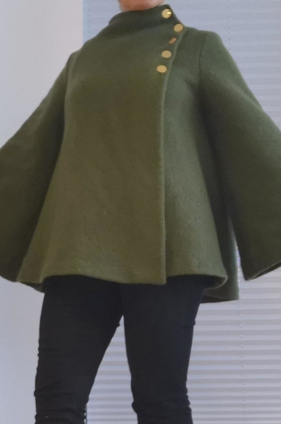 burda style Nutzerkreation Beago Cape in Grün