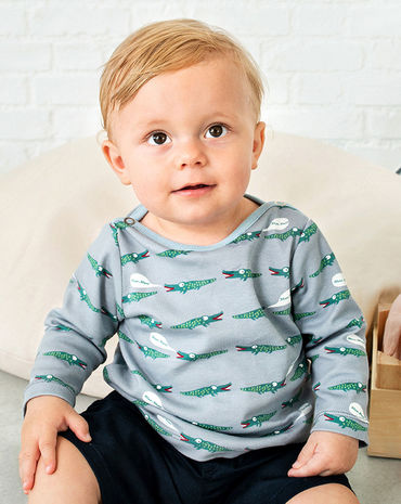 Schnittmuster inkl. Step-by-Step T-Shirt Baby 2018 #11A - Modefoto
