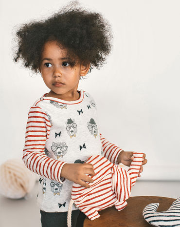 Schnittmuster inkl. Step-by-Step Baby-Pullover Baby 2018 #11B - Modefoto