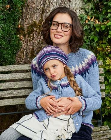 Kinder-Strickjacke Stricken 2017 #12 - Modefoto