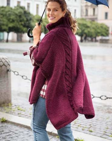 Strick-Poncho Stricken 2017 #38 - Modefoto