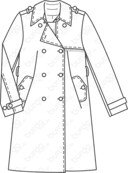 Schnittmuster Trenchcoat 10/2010 #113A