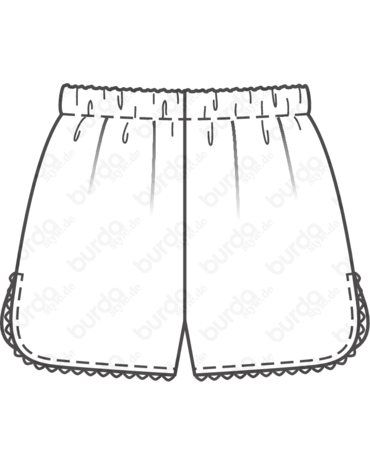 Schnittmuster French Knickers 01/2016 #123B - Techn. Zeichnung