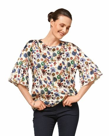 Schnittmuster Bluse H/W 2017 #6458A - Modefoto