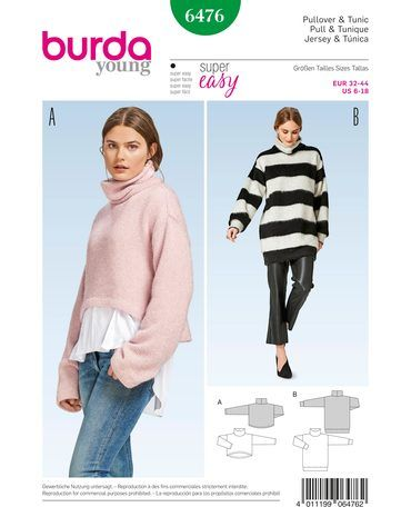 Schnittmuster Pullover H/W 2017 #6476 - Modefoto