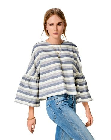 Schnittmuster Bluse H/W 2017 #6477A - Modefoto