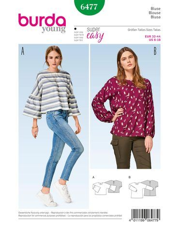 Schnittmuster Bluse H/W 2017 #6477 - Modefoto