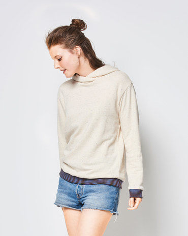 Schnittmuster Hoodie-Pullover F/S 2018 #6406A - Modefoto