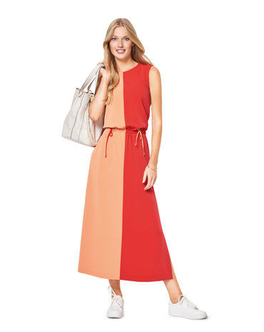 Schnittmuster Colour-Blocking-Kleid F/S 2018 #6419A - Modefoto