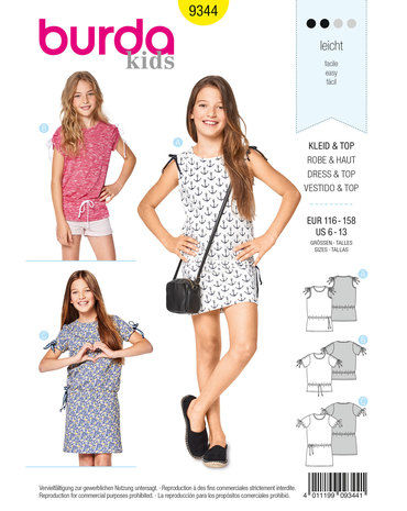 Shirts-und-tops Young-9-16-j-groesse-140-170 Maedchen Schnittmuster ...